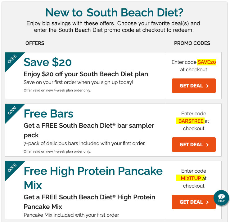 southbeachdiet.com promo codes