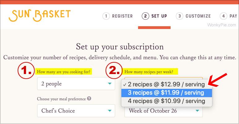 sun basket prices
