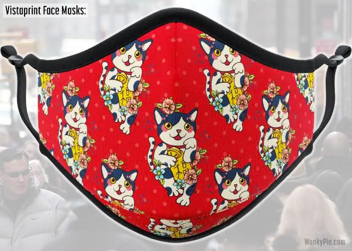 vistaprint face mask cats design