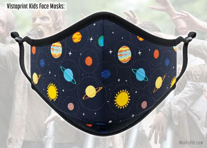 vistaprint kids face masks planets