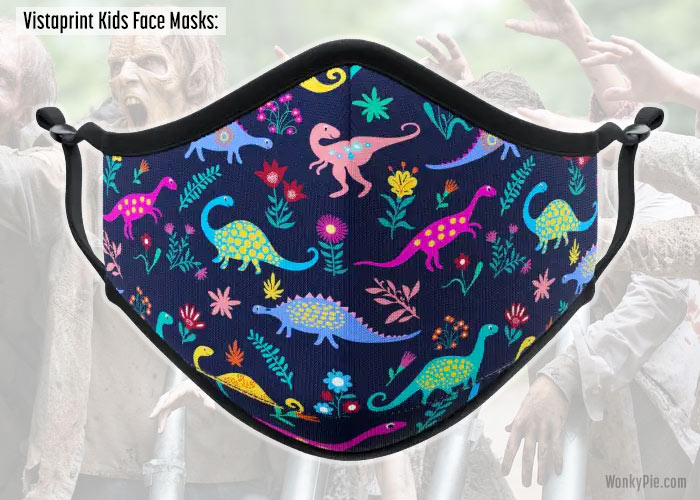 vistaprint kids face masks dinosaurs