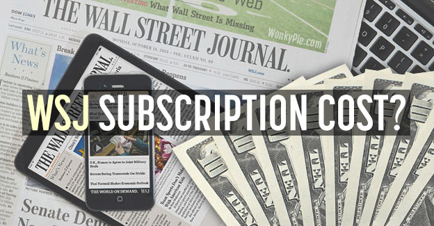 wall street journal subscription cost