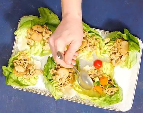 weight watchers asian chicken wraps