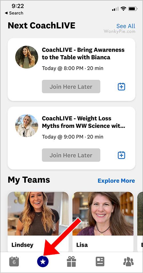 weight watchers coaching app
