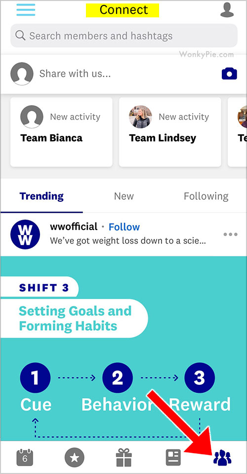 weight watchers connect app