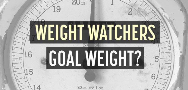 weight watchers goal weight