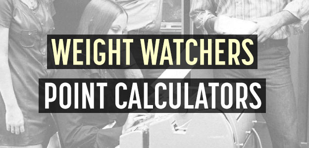 weight watchers point calculators