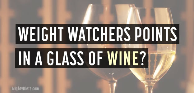 weight watchers points wine