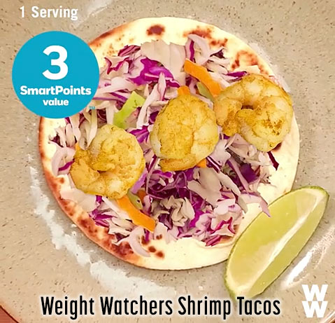 weight watchers shrimp tacos