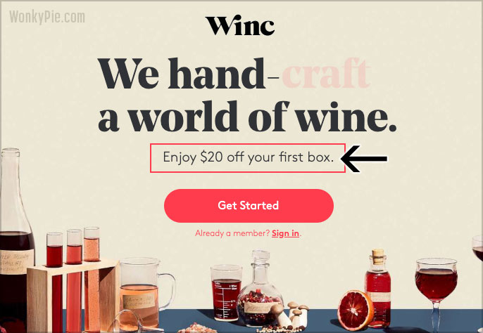 winc coupon 20
