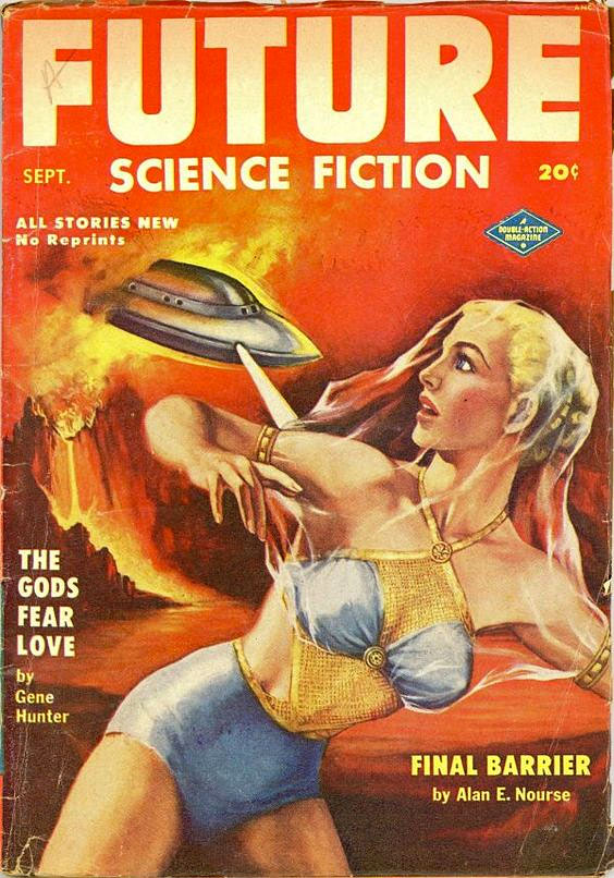 pulp cover sci fi woman