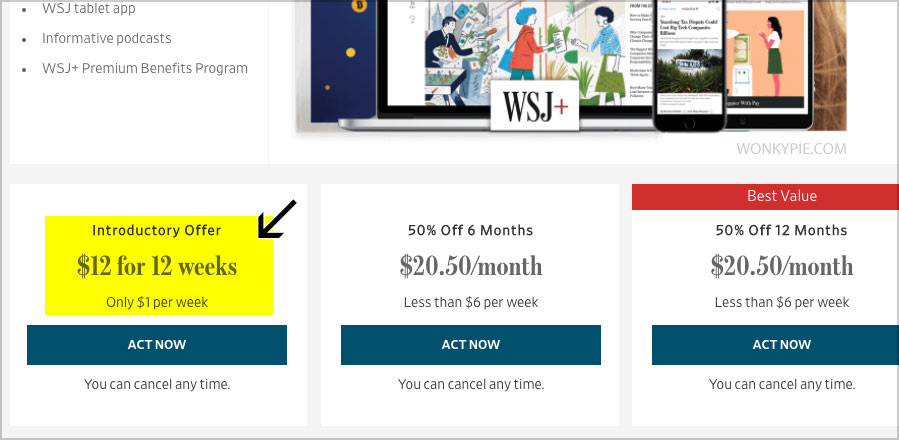 wsj $1 per week deal