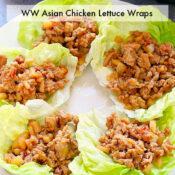 ww asian chicken lettuce wraps