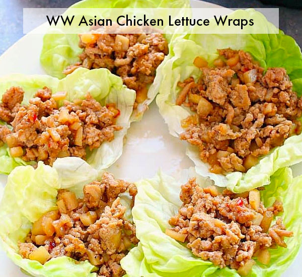 ww asian chicken lettuce wraps