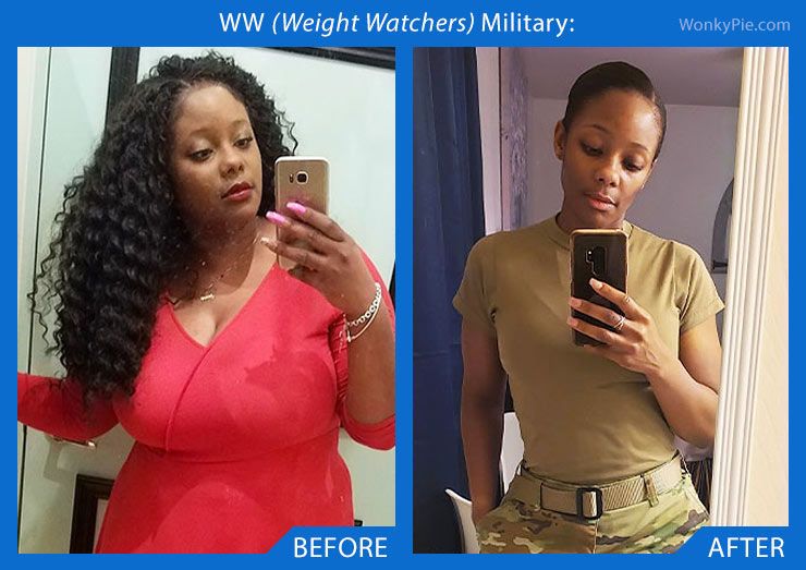 weight watchers military