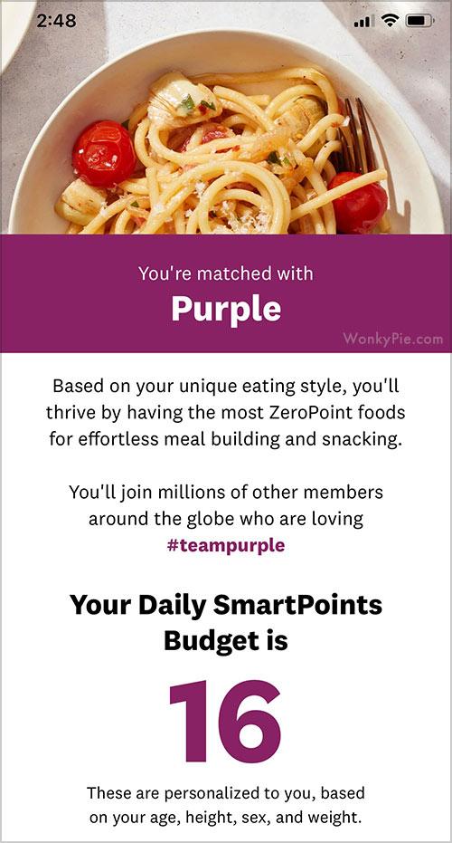 ww purple points