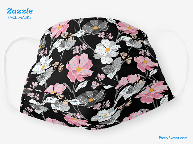 zazzle cloth mask floral design