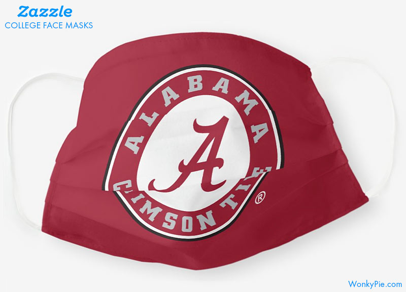 zazzle college masks alabama