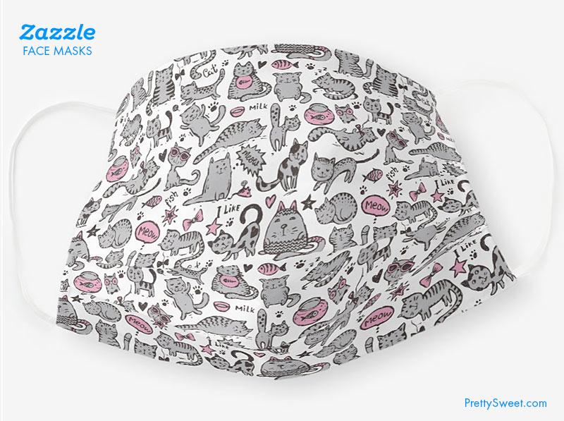 zazzle mask cat doodle design