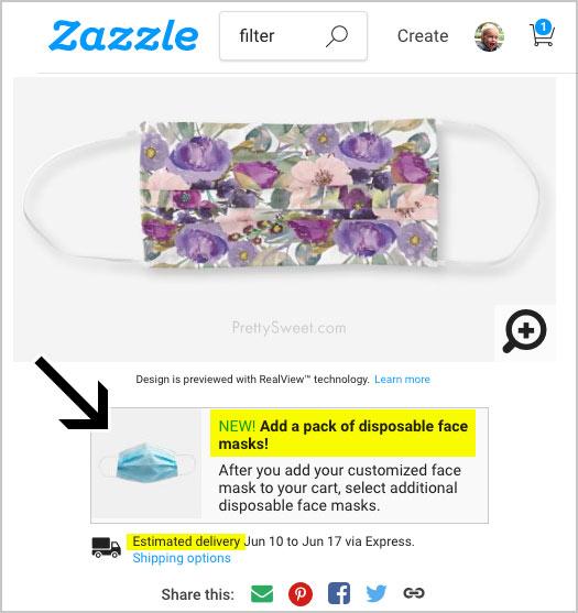 zazzle mask filters