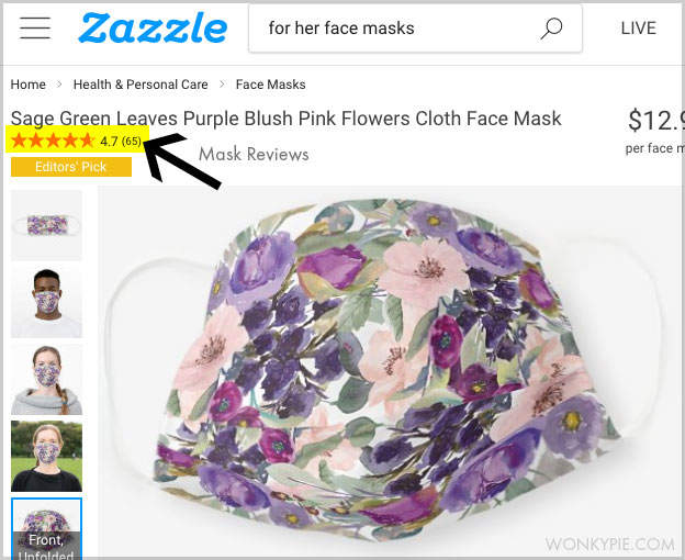 zazzle mask reviews